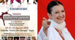 Nepi diventa la città della danza: al via il Festival, Carla Fracci protagonista